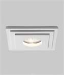 Tegular Design Plaster Recessed LV Downlight Square