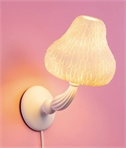 White Resin Mushroom Wall Light by Seletti