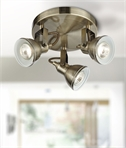 Adjustable Antique Brass Traditional Triple Spotlight