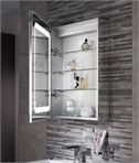 Bathroom Cabinet 700mm x 500mm lit inside and out