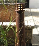 Tapered Rusty Bollard Light 400mm or 700mm