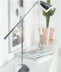 Chrome Adjustable Table Lamp with Touch Dimmer