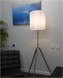 Adjustable Floor Lamp with Pleated Fabric Shade