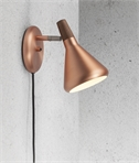 Flared Shaded Wall Light - Oiled Walnut Detail