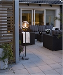Exterior Floor Lamp with Globe Glass