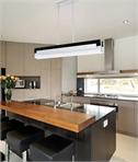 Modern Black and Frosted Glass Bar Pendant Light