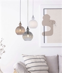 Stylish Reeded Glass Pendant - 3 Colours