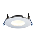 Low-Glare Dimmable LED Bathroom Downlight - Chrome
