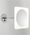 Square LED 5x Magnifying Mirror
