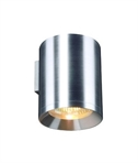 Large Brushed Aluminium Wall Light - Uplight or Downlight
