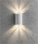White LED Wall Light with Lamp Filters