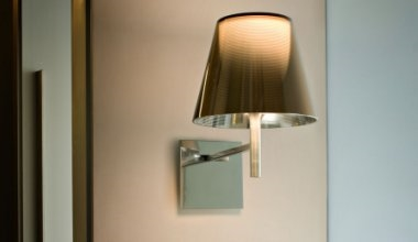 Modern Wall Lights with Glass & Plastic Shades