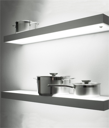 Illuminated shelves ideal for many locations
