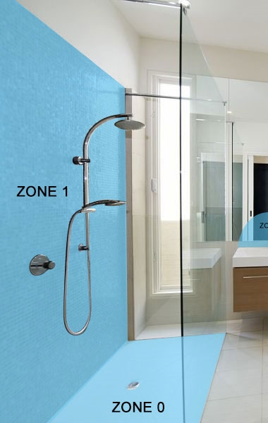 Bathroom Lighting Zones - Showers
