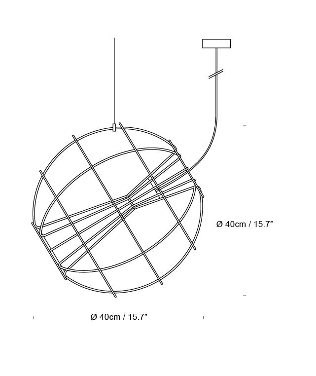 innermost round wire cage led designer pendant